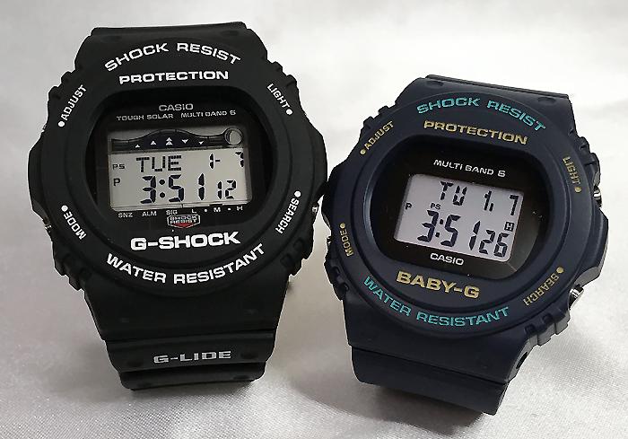 恋人たちのGショック ペアウオッチ  G-SHOCK 電波ソーラーソーラー電波 ペア腕時計 カシオ GWX-5700CS-1JF BGD-5700-2JF プレゼント ギフト  ラッピング無料  メッセージカード g-shock あす楽対応 クリスマスプレゼント