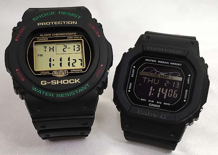 恋人たちのGショック ペアウオッチ G-SHOCK BABY-G ペア腕時計 カシオ 2本セット gショック ベビーg DW-5700TH-1JF BLX-560-1JFデジタル 人気 ラッピング無料g-shock ペアウオッチ クリスマスプレゼント