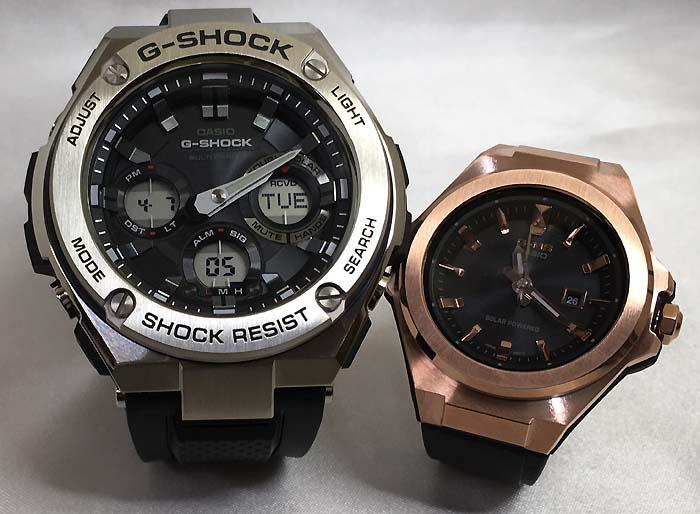 恋人たちのGショックペアウォッチ G-SHOCK BABY-G ペア腕時計 カシオ 2本セット gショック 電波ソーラー GST-W110-1AJF MSG-S500G-1AJF 人気 ラッピング無料 クリスマスプレゼント