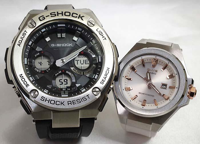 恋人たちのGショックペアウォッチ G-SHOCK BABY-G ペア腕時計 カシオ 2本セット gショック 電波ソーラー GST-W110-1AJF MSG-S500-7AJF 人気 ラッピング無料 あす楽対応