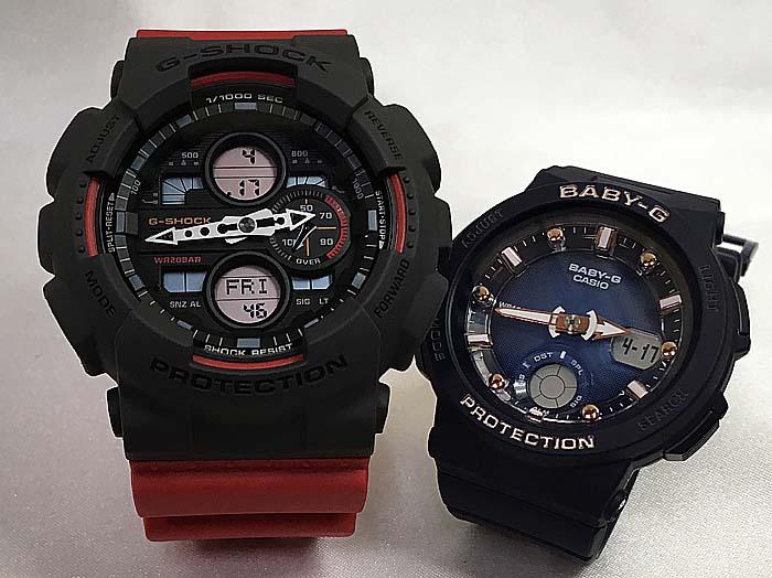 恋人たちのGショック ペアウオッチ G-SHOCK BABY-G ペア腕時計 カシオ 2本セット gショック ベビーg アナデジ GA-140-4AJF BGA-250-2A2JFギフト ラッピング無料 手書きのメッセージカードお付けします g-shock あす楽対応 クリスマスプレゼント