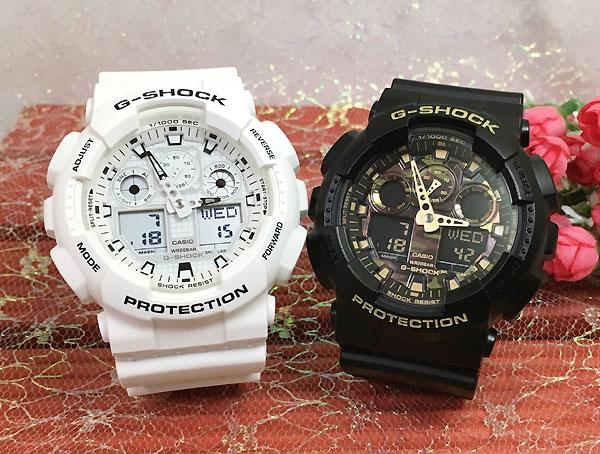 Gショック ペアウオッチ G-SHOCK ペア腕時計 カシオ 2本セット gショック アナデジ GA-100MW-7AJF GA-100CF-1A9JF プレゼント ギフト人気 ラッピング無料 g-shock クリスマスプレゼント