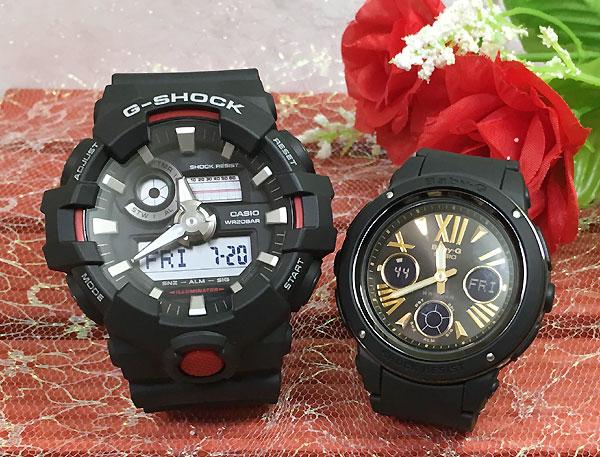 恋人たちのGショック ペアウオッチ Gショック ペア G-SHOCK BABY-G ペア腕時計 カシオ 2本セットgショック ベビーg アナデジ GA-700-1AJF BGA-153-1BJF 人気 ラッピング無料g-shock あす楽対応 クリスマスプレゼント