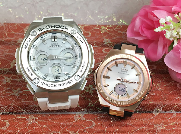 Gショック ペアウオッチ G-SHOCK BABY-G ペア腕時計 カシオ 2本セット gショック ベビーg アナデジ GST-W310-7AJF MSG-W200G-1A1JF 人気 ラッピング無料 あす楽対応 クリスマスプレゼント