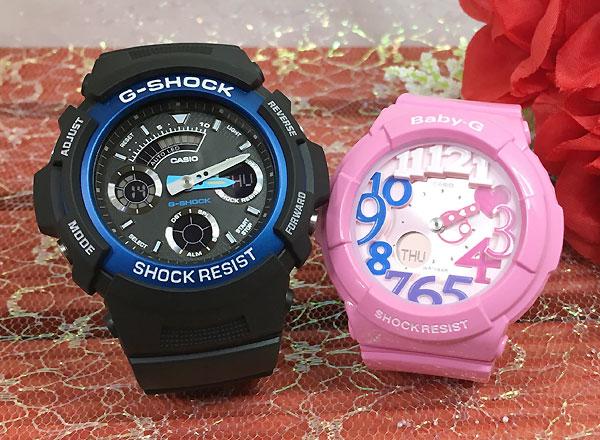 恋人たちのGショックペア G-SHOCK BABY-G ペアウォッチ ペア腕時計 カシオ 2本セット gショック ベビーg アナデジ AW-591-2AJF BGA-131-4B3JF お揃い ギフト 人気 ラッピング無料 新品 メッセージカード手書きします クリスマスプレゼント