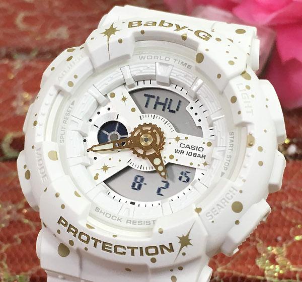 BABY-G カシオ BA-110ST-7AJFFクオーツ プレゼント腕時計 ギフト 人気 ラッピング無料 愛の証 感謝の気持ち baby-g 国内正規品 ホワイト 白 限定モデル 新品 メッセージカード手書きします あす楽対応 クリスマスプレゼント