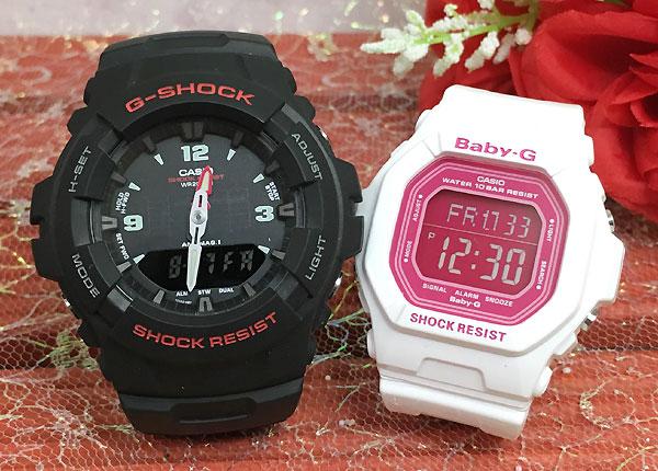 恋人たちのGショック ペアウオッチ G-SHOCK BABY-G ペア腕時計 カシオ 2本セット gショック ベビーg G-100-1BMJF BG-5601-7JF 人気 ラッピング無料 g-shock 送料無料 クリスマスプレゼント