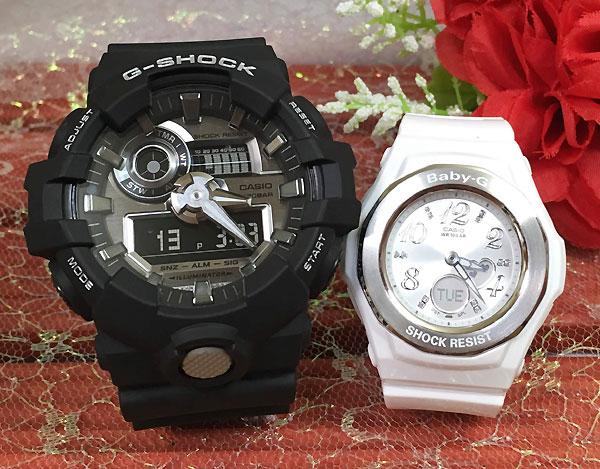 恋人たちのGショックペアウオッチG-SHOCK BABY-G ペア腕時計 カシオ 2本セットgショック ベビーg アナデジ GA-710-1AJF BGA-100-7B3JF 人気 ラッピング無料g-shock あす楽対応 クリスマスプレゼント