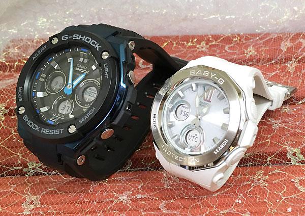 Gショック ペア G-SHOCK BABY-G ペアウォッチ ペア腕時計 カシオ 2本セット gショック ベビーg アナデジ GST-W300G-1A2JF BGA-2200-7BJF 人気 ラッピング無料 あす楽対応