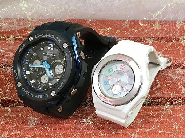 Gショック ペア G-SHOCK BABY-G ペアウォッチ ペア腕時計 カシオ 2本セット gショック ベビーg アナデジ GST-W300G-1A2JF BGA-1020-7BJF ソーラー電波 人気 ラッピング無料