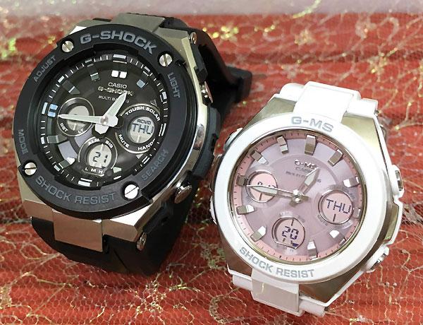 Gショック ペア G-SHOCK BABY-G ペアウォッチ ペア腕時計 カシオ 2本セット gショック ベビーg アナデジ GST-W300-1AJF MSG-W100-7A3JF 人気 ラッピング無料 あす楽対応