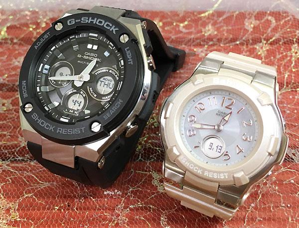 恋人たちのGショックペア G-SHOCK BABY-G ペアウォッチ ペア腕時計 カシオ 2本セット gショック 電波ソーラー GST-W300-1AJF BGA-1100-4BJF 人気 ラッピング無料 あす楽対応