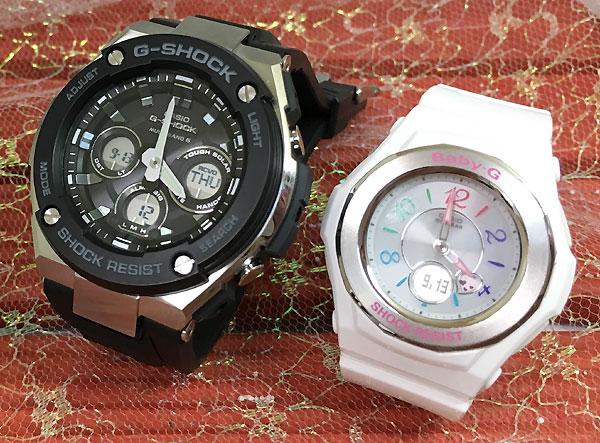Gショック ペア G-SHOCK BABY-G ペアウォッチ ペア腕時計 カシオ 2本セット gショック ベビーg アナデジ GST-W300-1AJF BGA-1020-7BJF ソーラー電波 人気 ラッピング無料