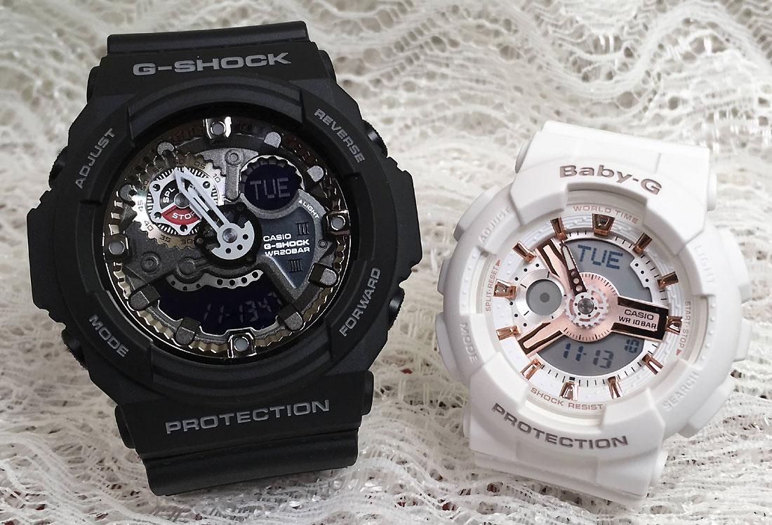 恋人たちのGショックペアウオッチ G-SHOCK ペア腕時計 カシオ GA-300-1AJF BA-110RG-7AJF プレゼント ギフト ラッピング無料 g-shock メッセージカード手書きします あす楽対応 クリスマスプレゼント