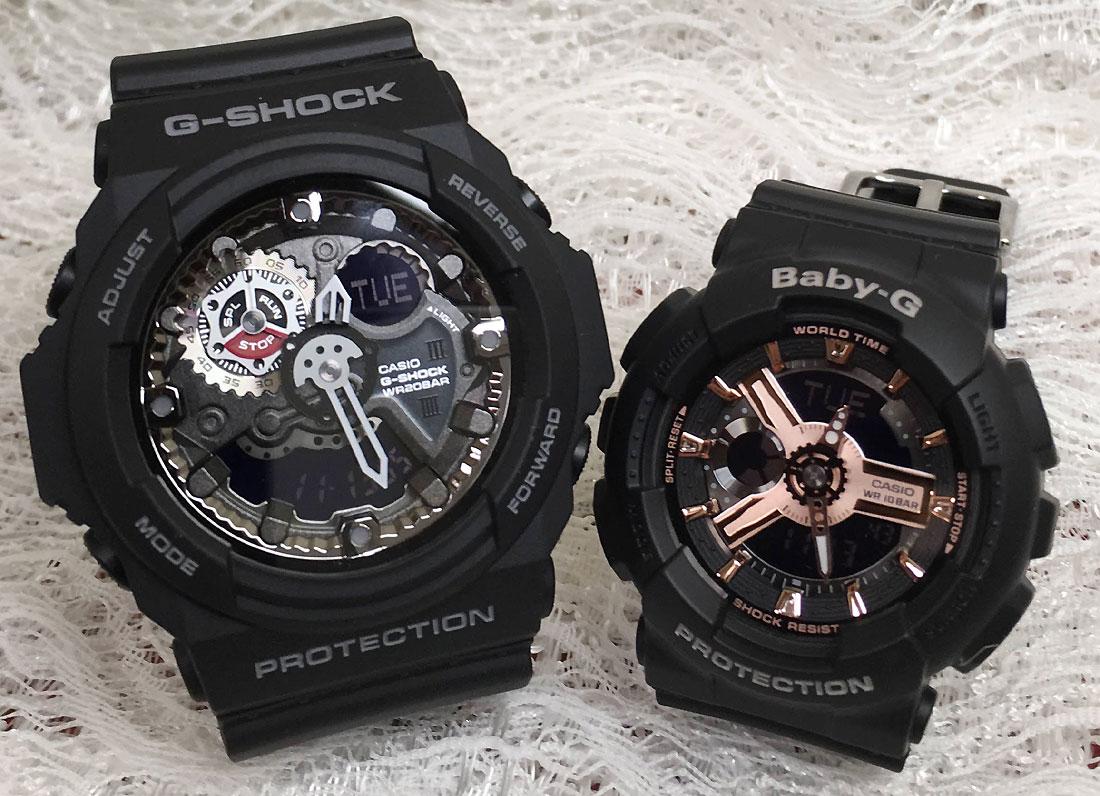 恋人たちのGショックペアウオッチ G-SHOCK ペア腕時計 カシオ GA-300-1AJF BA-110RG-1AJF プレゼント ギフト ラッピング無料 g-shock メッセージカード手書きします あす楽対応 クリスマスプレゼント