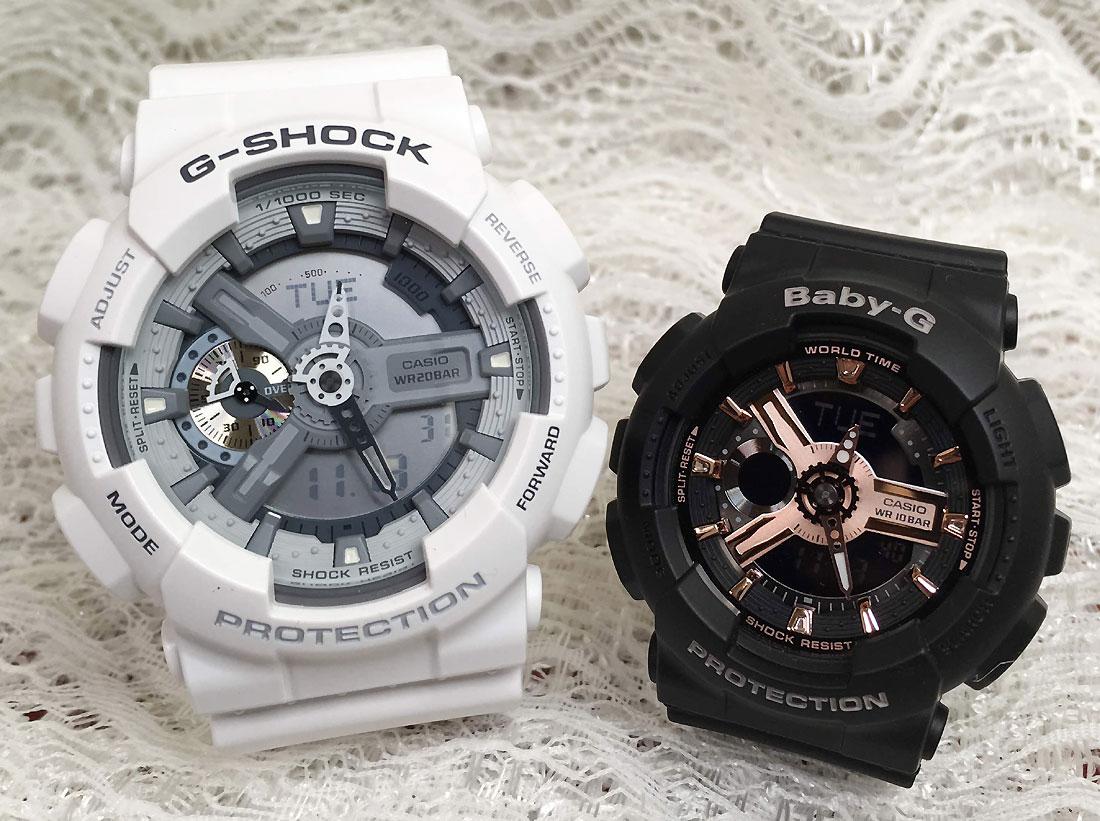 恋人たちのGショックペアウオッチ G-SHOCK ペア腕時計 カシオ GA-110C-7AJF BA-110RG-1AJF プレゼント ギフト ラッピング無料 g-shock メッセージカード手書きします あす楽対応 クリスマスプレゼント