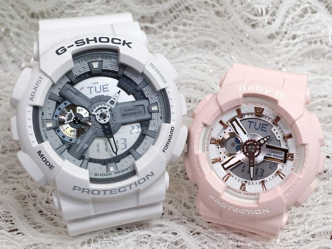 恋人たちのGショックペアウオッチ G-SHOCK ペア腕時計 カシオ GA-110C-7AJF BA-110RG-4AJF プレゼント ギフト ラッピング無料 g-shock メッセージカード手書きします あす楽対応 クリスマスプレゼント