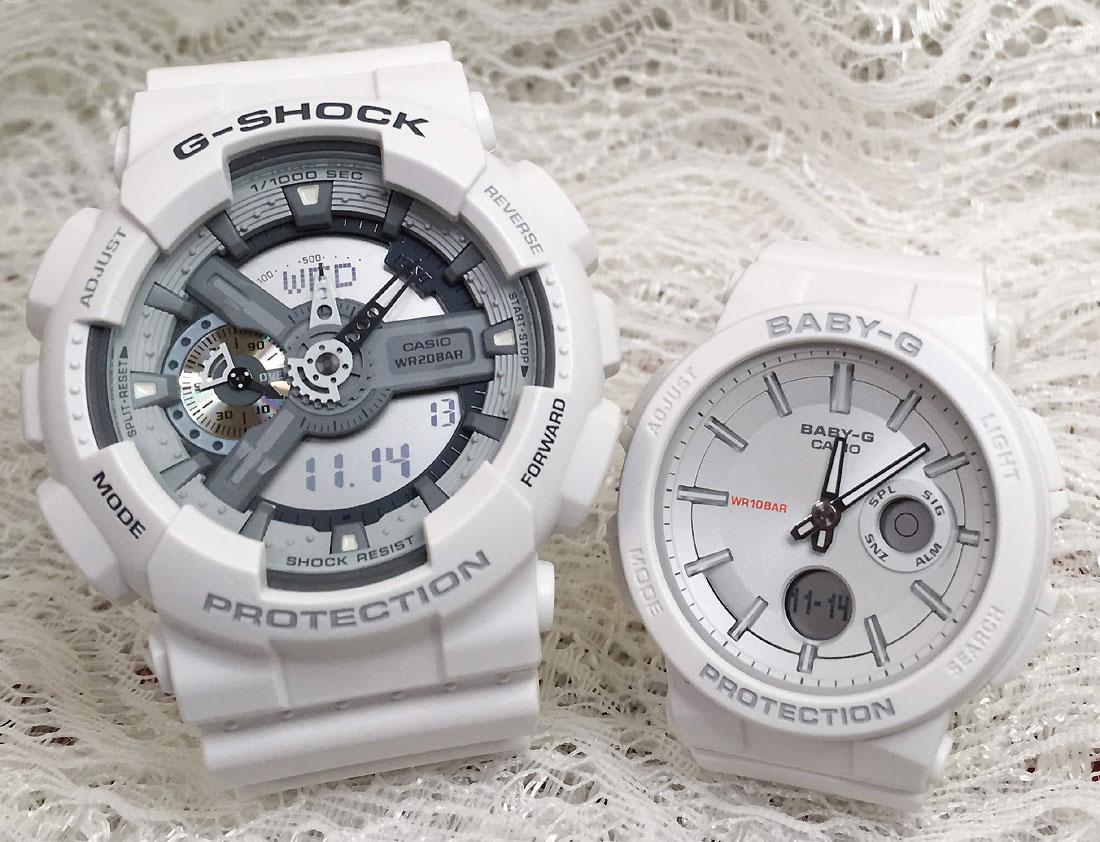 恋人たちのGショックペアウオッチ G-SHOCK ペア腕時計 カシオ GA-110C-7AJF BGA-255-7AJF プレゼント ギフト ラッピング無料 g-shock メッセージカード手書きします あす楽対応 クリスマスプレゼント