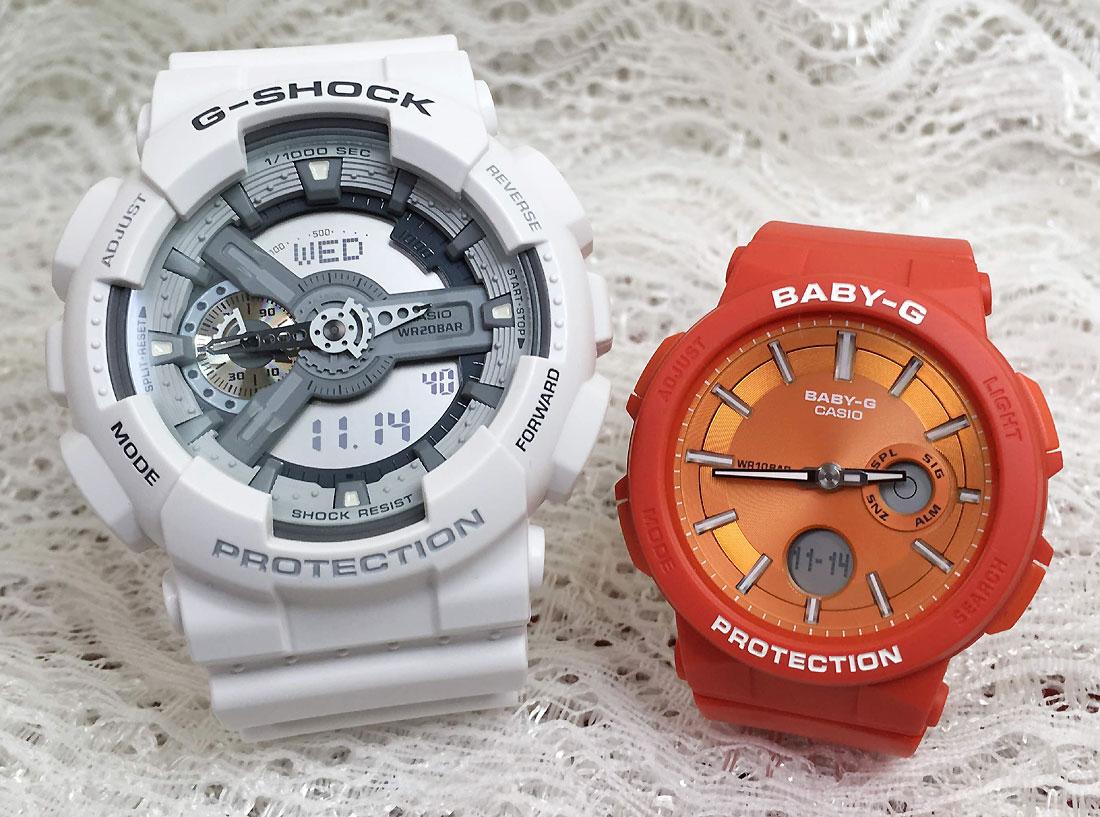 恋人たちのGショックペアウオッチ G-SHOCK ペア腕時計 カシオ GA-110C-7AJF BGA-255-4AJF プレゼント ギフト ラッピング無料 g-shock メッセージカード手書きします あす楽対応 クリスマスプレゼント