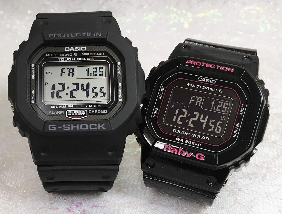 恋人たちのGショックペアウオッチ G-SHOCK BABY-G ペア腕時計 カシオ ネイビー ホワイト 電波ソーラー2本セット GW-5000-1JF BGD-5000-1JF プレゼント ギフト ラッピング無料 手書きのメッセージカードお付けします g-shock あす楽対応