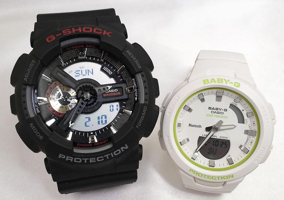 恋人たちのGショックペアウォッチ G-SHOCK BABY-G ペア腕時計 カシオ 2本セット gショック ベビーg アナデジ GA-110-1AJF BSA-B100SC-7AJF お揃い プレゼント ギフト 人気 ラッピング無料 新品 メッセージカード手書きします あす楽対応