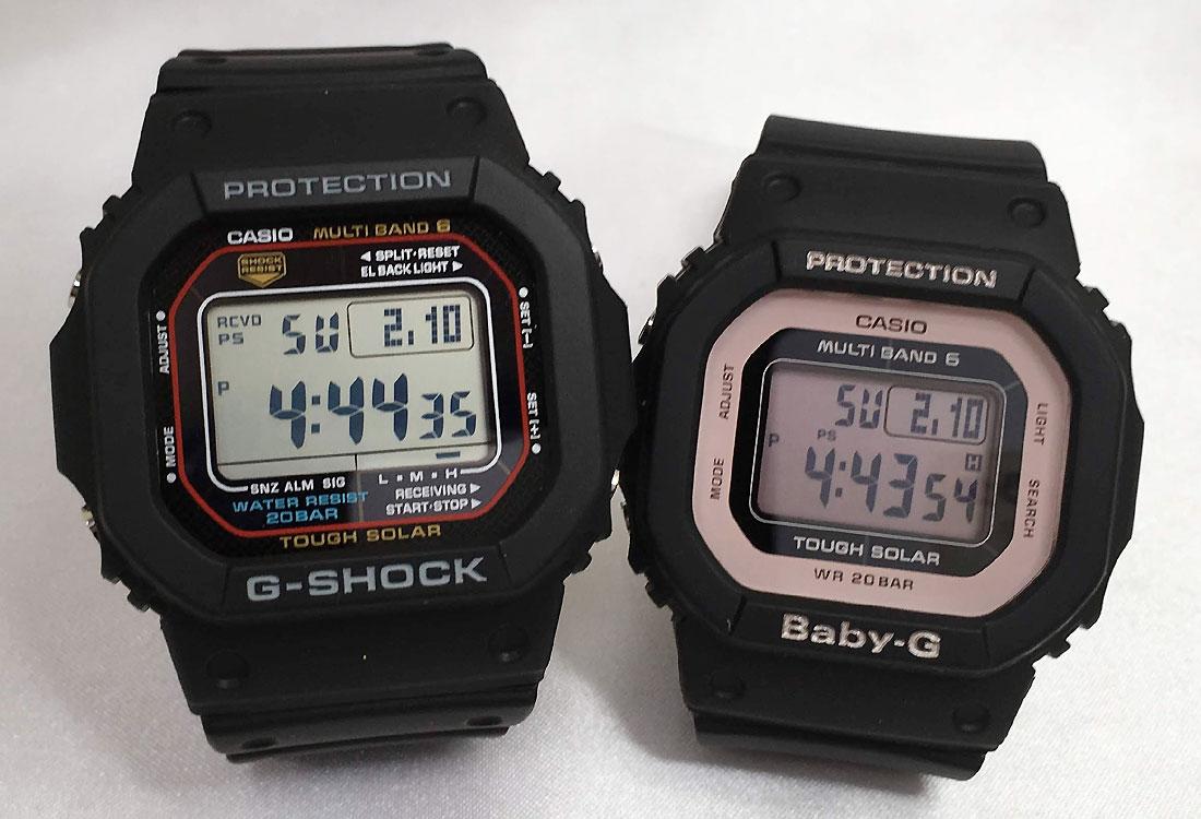 Gショックペアウォッチ G-SHOCK BABY-G ペア腕時計 カシオ 2本セット gショック ベビーg デジタル GW-M5610-1JF BGD-5000-1BJF 人気 ラッピング無料 手書きのメッセージカードお付けします あす楽対応