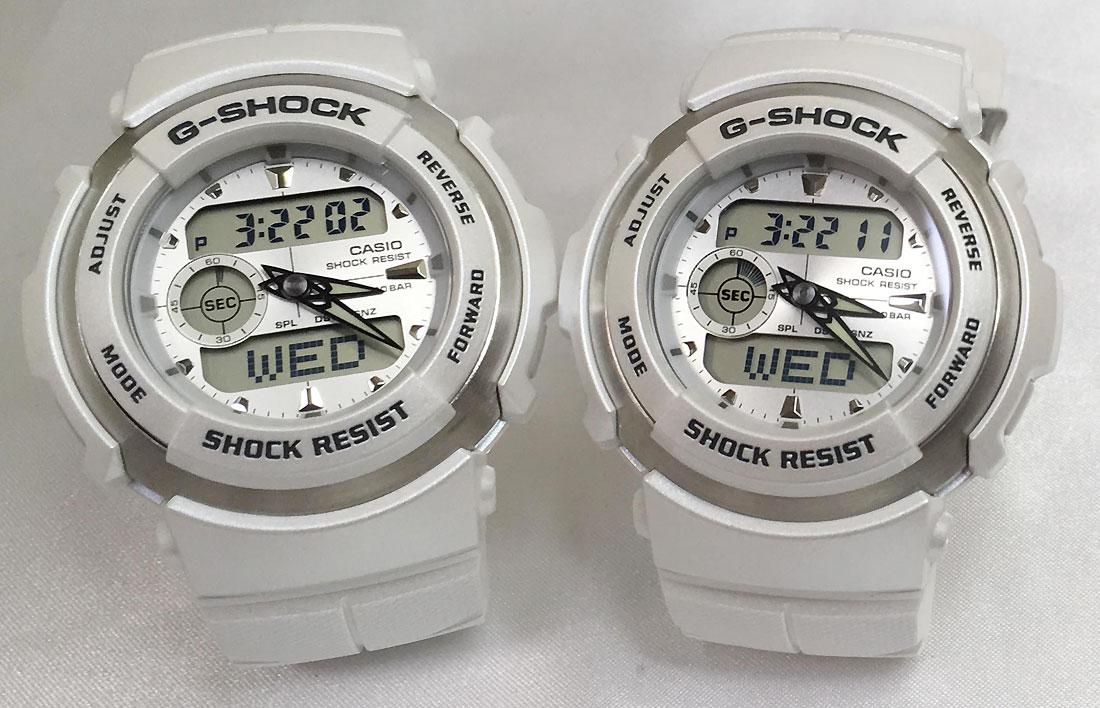 恋人たちのGショック ペアウオッチ ありがとう 恋人たちのGショックG-SHOCK ペア腕時計 GSHOCK ジーショック カシオG-300LV-7AJF アナデジ表示 人気 ラッピング無料 手書きのメッセージカードお付けいたしますg-shock ペアウオッチ あす楽対応