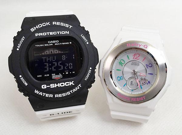 恋人たちのGショック ペアウオッチ G-SHOCK BABY-G ペア腕時計 カシオ 2本セット gショック ベビーg GWX-5700SSN-1JF BGA-1020-7BJF大人のG-SHOCK プレゼント ギフト ラッピング無料 手書きのメッセージカードお付けします あす楽対応
