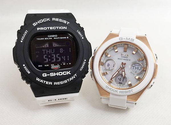 恋人たちのGショック ペアウオッチ G-SHOCK BABY-G ペア腕時計 カシオ 2本セット gショック ベビーg GWX-5700SSN-1JF MSG-W100G-7AJF 大人のG-SHOCK プレゼント ギフト ラッピング無料 手書きのメッセージカードお付けします