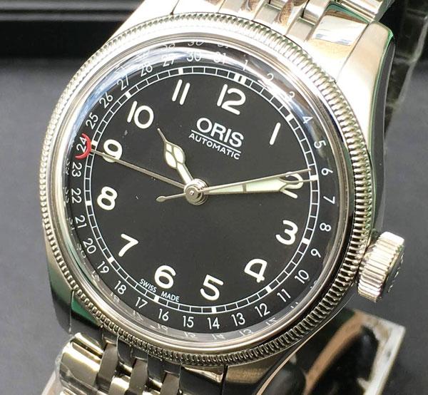 オリスジャパン正規3年保証 ORIS オリス 腕時計 メンズ ウォッチ ポインターデイト 754.7696.4064M 40ミリ径 メタルブレス 文字盤ブラックギフト 人気 ラッピング無料 手書きのメッセージカードお付けします あす楽対応