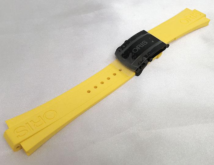 新品 ORIS オリス 腕時計 オリス アクイス デプスゲージメンズウォッチ 純正ラバーベルト 733.7675 イエロー