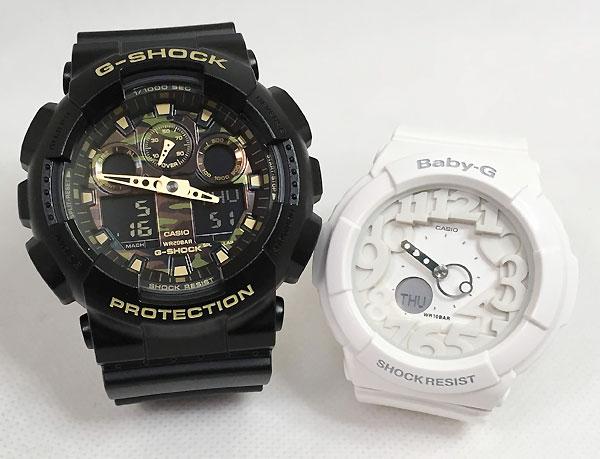 恋人たちのGショック ペアウオッチ G-SHOCK BABY-G ペア腕時計 カシオ 2本セット gショック ベビーg アナデジ GA-100CF-1A9JF BGA-131-7BJF 人気 ラッピング無料 手書きのメッセージカードお付けします あす楽対応