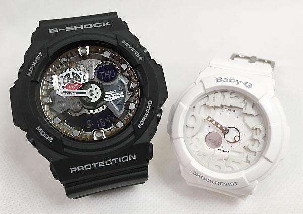恋人たちのGショック ペアウオッチ G-SHOCK BABY-G ペア腕時計 カシオ 2本セット gショック ベビーg アナデジ GA-300-1AJF BGA-131-7BJF プレゼント ギフト ラッピング無料 手書きのメッセージカードお付けします あす楽対応