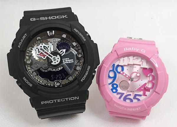 恋人たちのGショック ペアウオッチ G-SHOCK BABY-G ペア腕時計 カシオ 2本セット gショック ベビーg GA-300-1AJF BGA-131-4B3JF プレゼント ギフト ラッピング無料 手書きのメッセージカードお付けします あす楽対応 g-shock クリスマス