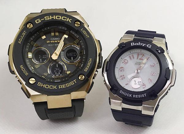 Gショック ペア G-SHOCK BABY-G ペアウォッチ ペア腕時計 カシオ 2本セット gショック ベビーg アナデジ GST-W300G-1A9JF BGA-1100-2BJF 人気 ラッピング無料 手書きのメッセージカードお付けします クリスマス