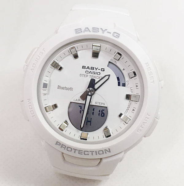 G-SQUADカシオ BSA-B100-7AJF Bluetooth対応 クオーツ プレゼント腕時計 ギフト 人気 ラッピング無料 baby-g スマートフォンアプリ連動 歩数計測機能 国内正規品 新品 メッセージカード手書きします あす楽対応 クリスマスプレゼント