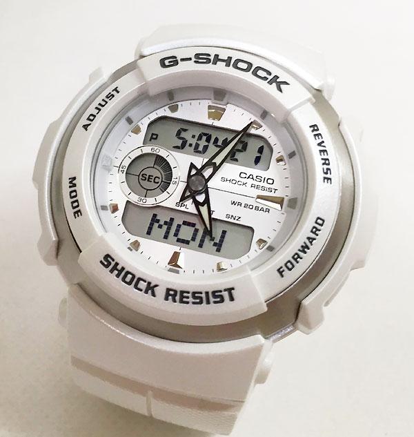 国内正規品 新品 GショックG-SHOCK カシオ メンズウオッチ gショック アナデジ G-300LV-7AJF 白 小ぶりなデザイン ユニセックス 男女兼用サイズ プレゼント 腕時計 ギフト 人気 ラッピング無料 愛の証 感謝の気持ち g-shock あす楽対応