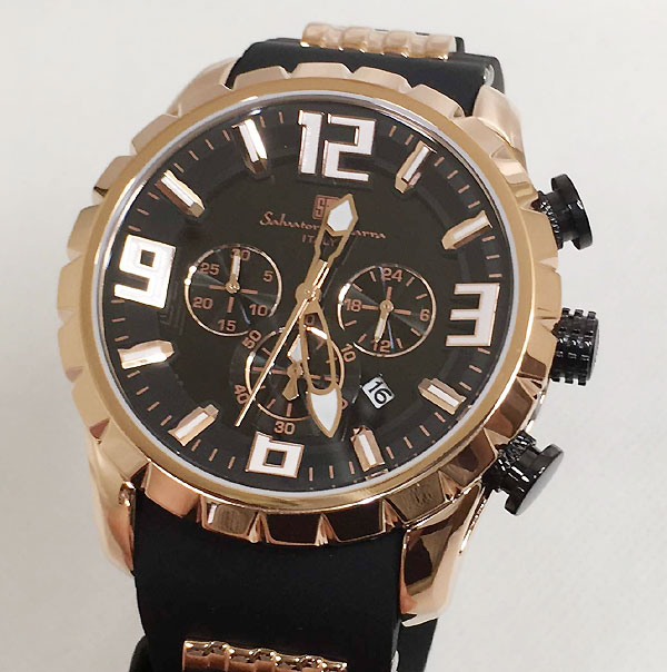サルバトーレマーラ 腕時計 メンズウォッチ Salvatore Marra SM15107-PGBK ギフト ラッピング無料 手書きのメッセージカードお付けします あす楽対応