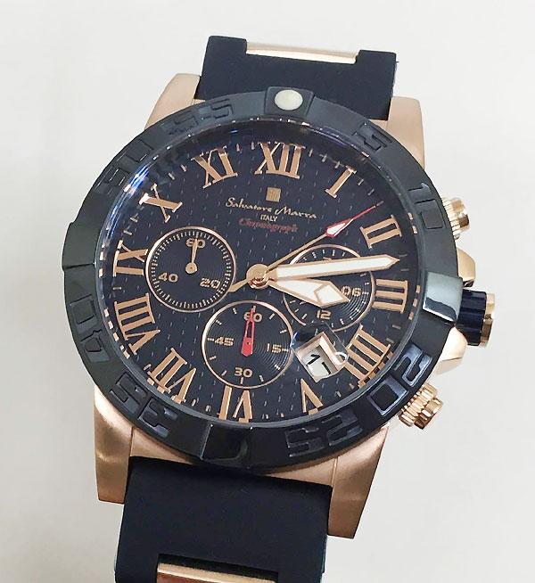サルバトーレマーラ 腕時計 メンズウォッチ Salvatore Marra SM18118-PGBL ギフト ラッピング無料 手書きのメッセージカードお付けします あす楽対応