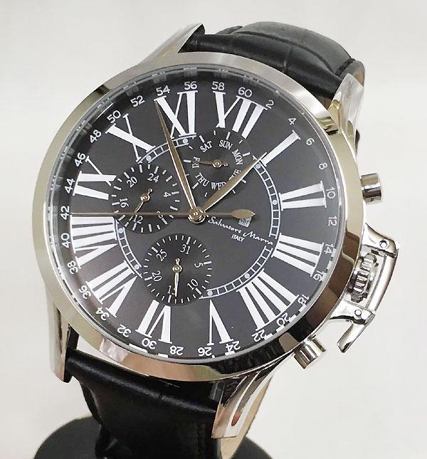 サルバトーレマーラ 腕時計 メンズウォッチ Salvatore Marra SM14123-SSBK ギフト ラッピング無料 手書きのメッセージカードお付けします あす楽対応