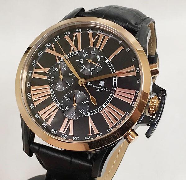 サルバトーレマーラ 腕時計 メンズウォッチ Salvatore Marra SM14123-PGBK ギフト ラッピング無料 手書きのメッセージカードお付けします あす楽対応
