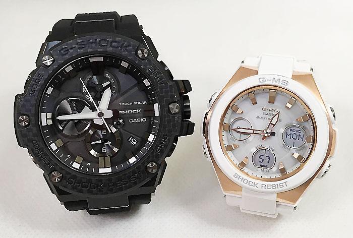 恋人たちのGショック ペアウオッチ G-SHOCK BABY-G ペア腕時計 カシオ 2本セット gショック ベビーg GST-B100X-1AJF MSG-W100G-7AJF ソーラー プレゼント ギフト ラッピング無料 手書きのメッセージカードお付けします