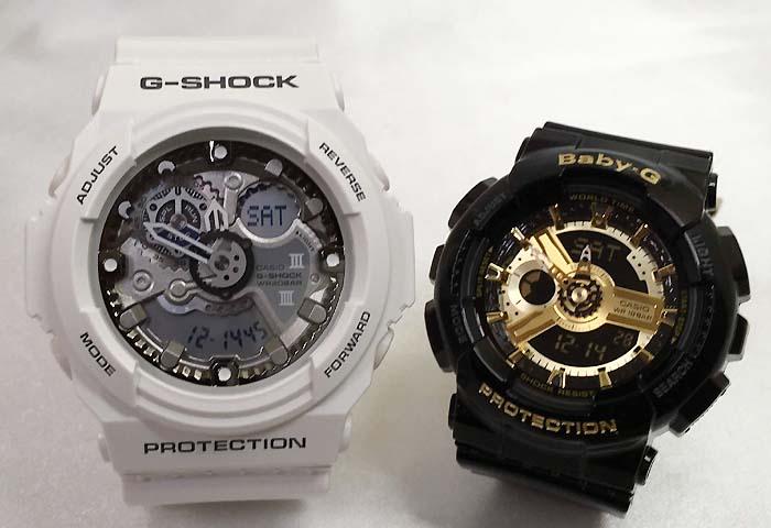 恋人たちのGショックペアウオッチ G-SHOCK ペア腕時計 カシオ GA-300-7AJF BA-110-1AJF プレゼント ギフト ラッピング無料 g-shock メッセージカード手書きします あす楽対応 クリスマスプレゼント