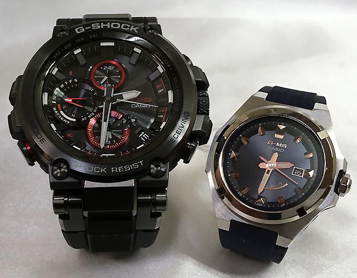 大人達のGショックペアウォッチ G-SHOCK BABY-G ペア腕時計 カシオ 2本セット gショック 電波ソーラー MTG-B1000B-1AJF MSG-W300-2AJF 人気 ラッピング無料 あす楽対応 クリスマスプレゼント