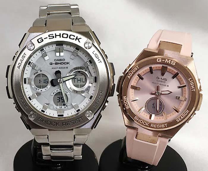 恋人たちのGショックペアウォッチ G-SHOCK BABY-G ペア腕時計 カシオ 2本セット gショック 電波ソーラー GST-W110D-7AJF MSG-W200G-4AJF 人気 大人のペアウオッチ ラッピング無料 クリスマスプレゼント