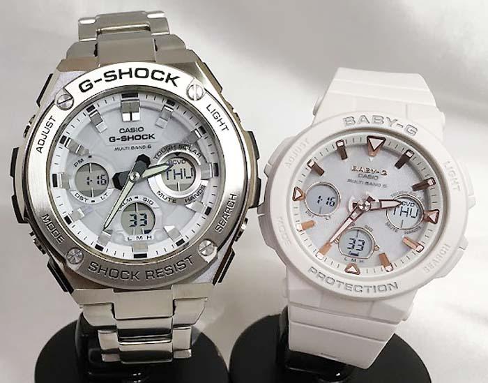 恋人たちのGショックペアウォッチ G-SHOCK BABY-G ソーラー電波 ペア腕時計 カシオ 2本セット gショック ベビーg アナデジ GST-W110D-7AJF BGA-2500-7AJF 人気 ラッピング無料 手書きのメッセージカードお付けします クリスマスプレゼント