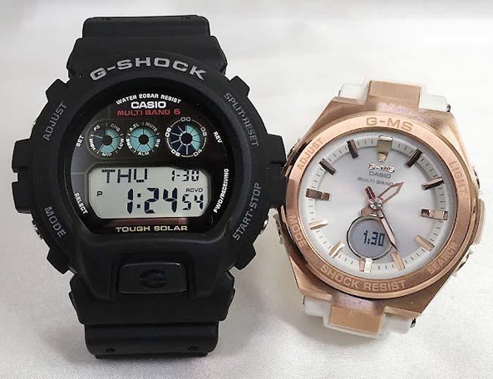 大人達のGショックペアウォッチ G-SHOCK BABY-G ペア腕時計 カシオ 2本セット gショック ベビーg GW-6900-1JF MSG-W200G-7AJF 大人のG-SHOCK ソーラー 人気 ラッピング無料 クリスマスプレゼント