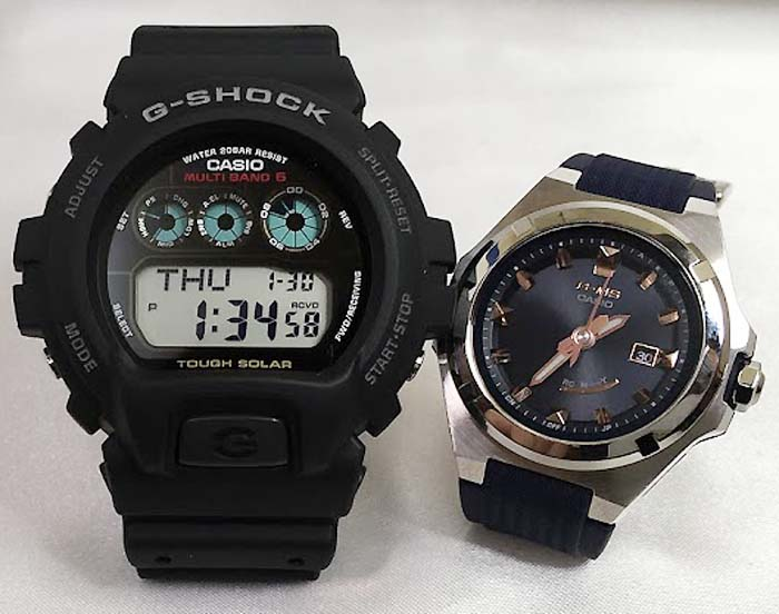 大人達のGショックペアウォッチ G-SHOCK BABY-G ペア腕時計 カシオ 2本セット gショック 電波ソーラー GW-6900-1JF MSG-W300-2AJF 人気 ラッピング無料 あす楽対応 クリスマスプレゼント