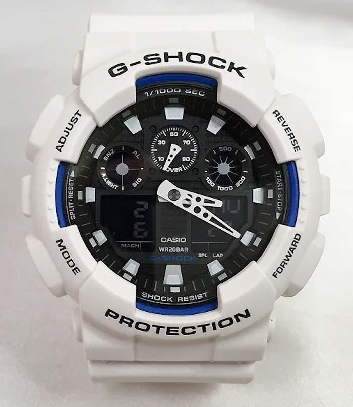 国内正規品 新品 Gショック G-SHOCK カシオ メンズウオッチ gショック アナデジ GA-100B-7AJF 白 ホワイト プレゼント 腕時計 ギフト 人気 ラッピング無料 愛の証 感謝の気持ち g-shock メッセージカード手書きします あす楽対応