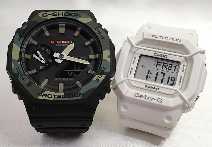 恋人たちのGショックペアウオッチ ブラック&ホワイト G-SHOCK ペア腕時計 カシオ GA-2100SU-1AJF BGD-501-7JFプレゼント ギフト ラッピング無料 手書きのメッセージカードお付けします あす楽対応  クリスマスプレゼント
